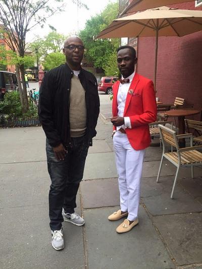 Okyeame Kwame (R) and David Miller